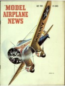 Model Airplane News Vintage Cover Poster - July 1953