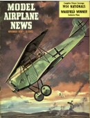 Model Airplane News Vintage Cover Poster - November 1954