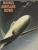 Model Airplane News Vintage Cover Poster - December 1945
