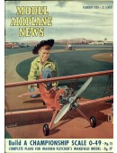 Model Airplane News Vintage Cover Poster - February 1950